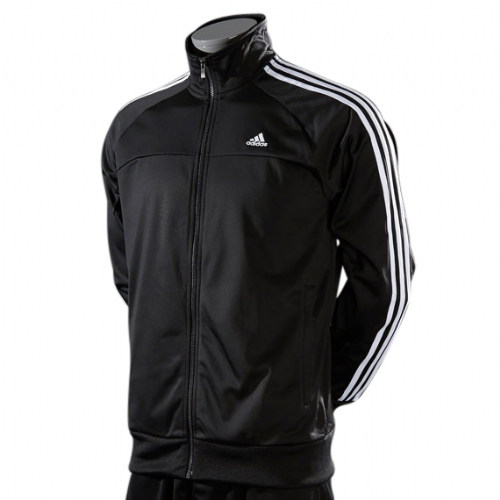 Adidas Men's Essentials 3S Track Jacket Training Top Black